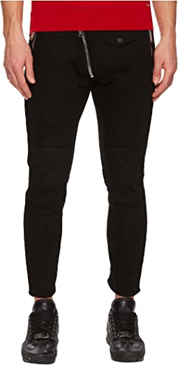 DSQUARED2 Leather Biker Fit Jeans