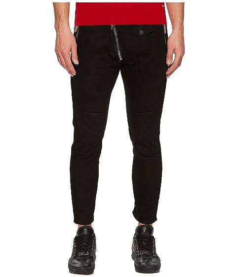 DSQUARED2 Leather Biker Fit Jeans