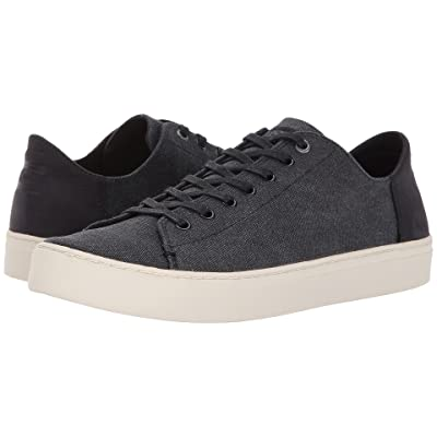TOMS Lenox (Black Washed Canvas/Leather) Men