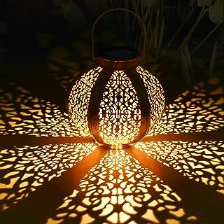Lanterne solaire extérieure, Tencoz lanterne solaire Lanternes suspendues Lampes solaires Lanterne de jardin Patio Décor M...