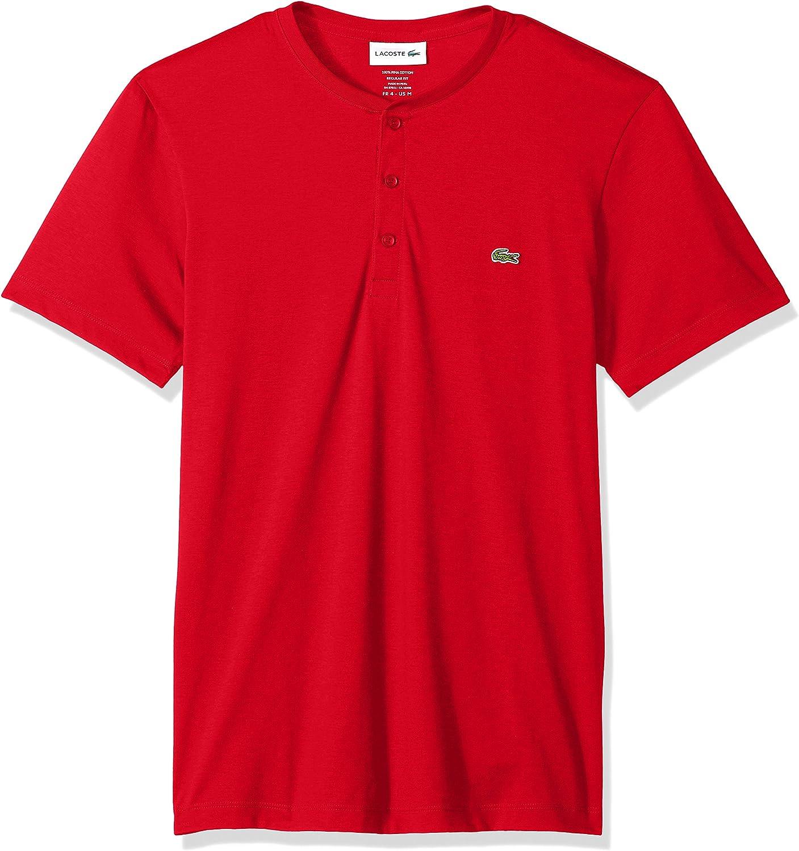 Lacoste Men's Henley Neck Now on sale 40% OFF Cheap Sale Cotton T-Shirt Pima Jersey