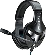 ENHANCE (Manufacturer REFURBISHED) GX-H4 Computer Gaming Headset with Microphone - Braided Cable, Noise Isolating Headphones, Comfort Design Headband - Connect with 3.5mm AUX - INFILTRATE Series