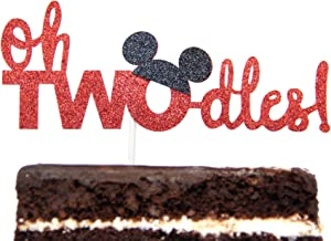 Twodles Cake Topper Mickey Mouse Inspired Two Year Birthday