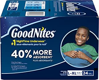 GoodNites Bedtime Bedwetting Underwear for Boys, L-XL, 24 Ct. (Packaging May Vary)