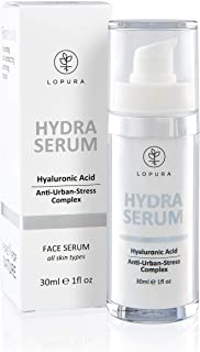 LOPURA Hydra Serum with Anti-Urban Stress Complex – high concentrated facial care with Hyaluronic Acid, Ectoin and Panthen...