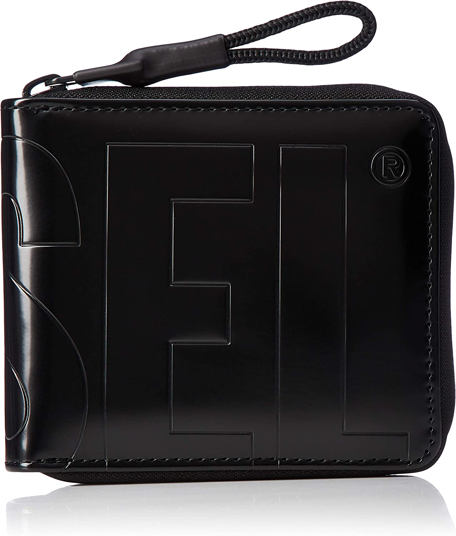 Diesel Men's BOLDWALLET Zippy HIRESH S II Wallet, Black