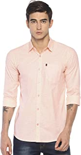 LEVIZO 100% Cotton Casual Polka Dot Regular Fit Shirt for Men