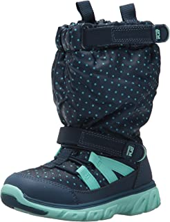 Girls' Made 2 Play Sneaker Boot Snow, Navy/Turquoise, 1 M US Little Kid