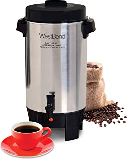 West Bend 58002 Highly Polished Aluminum Commercial Coffee Urn Features Automatic..