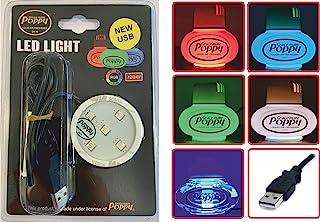 Original Poppy Grace Mate USB LED Scheibe Rot, Grün und Blau   3M Sticky Pad für LKW und Auto