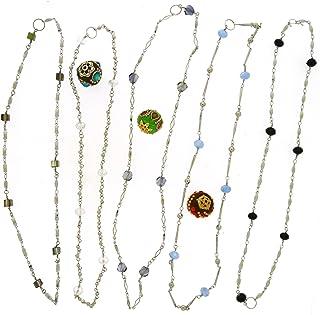 Jesse James Beads Beaded Chain Bonanza - Silver - 60 Ft - Plus 3 Free Focal Beads