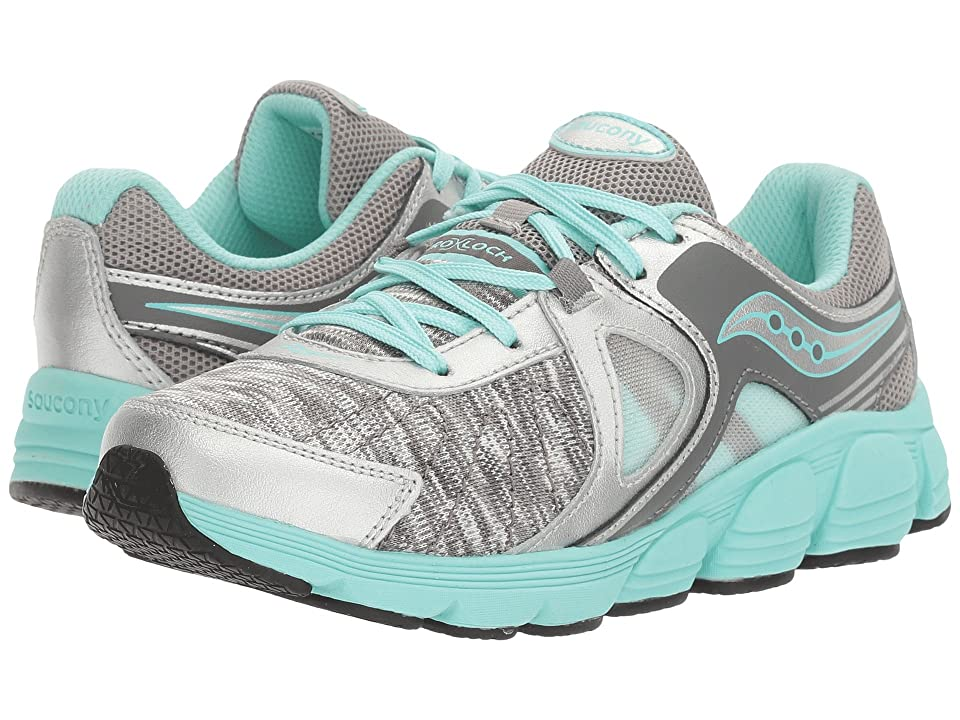 Saucony Kids Kotaro 3 (Little Kid) (Silver/Turquoise/Print) Girls Shoes
