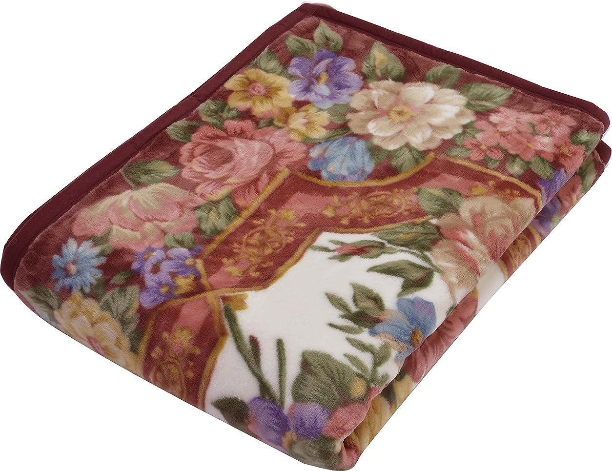 トランペット達成する固有の西川(Nishikawa) 毛布 ピンク シングル 140×200㎝ 日本製 二枚合わせ 2K2368
