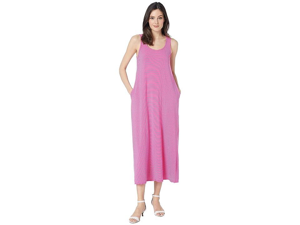Fresh Produce Pinstripe Juliet Maxi Dress (Raspberry) Women