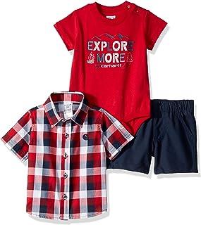1b6312379 Carhartt Baby-Boys 3-Piece Short Clothing Set Shorts Set