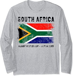 World Rugby 2019 South Africa Flag Gift for Fan Team Player Long Sleeve T-Shirt