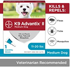 Bayer K9 Advantix II Flea, Tick & Mosquito Prevention for Medium Dogs, 11-20 lbs