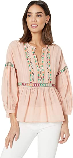 2459a1288129b 19. Lucky Brand. Embroidered Peasant Top