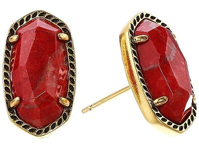 Kendra Scott Ellie Earring (Vintage Gold Burnt Sienna) Earring