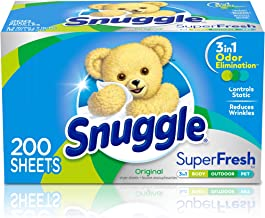 Snuggle Plus SuperFresh Fabric Softener Dryer Sheets with Static Control and Odor Eliminating Technology