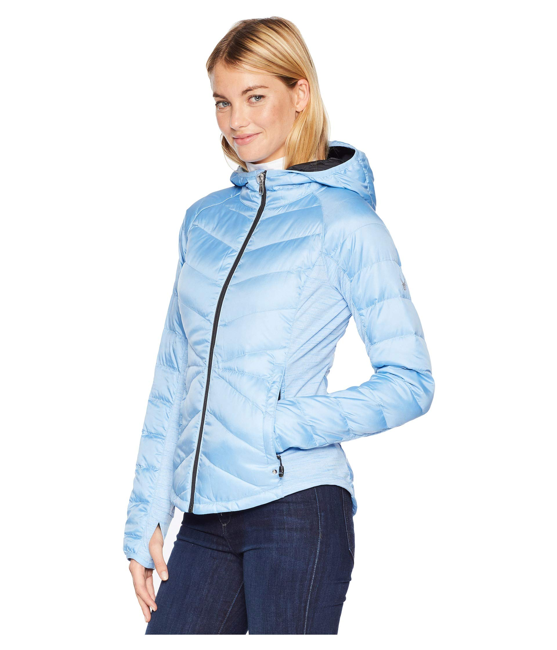 Spyder Ice Ice Solitude blue Jacket Blue Hoodie Down rT6qrw