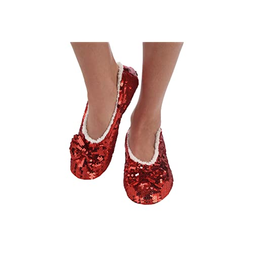 1a29746a3bb8 Snoozies Ballerina Bling Metallic Shine Womens Cozy Sequin Slippers
