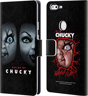 Official Bride of Chucky Poster Key Art Leather Book Wallet Case Cover Compatible for Google Pixel XL