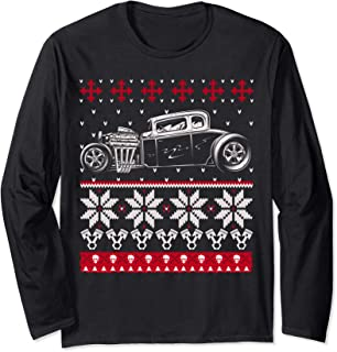 Hot Rod Ugly Sweater Look t-shirt Christmas gift or party t