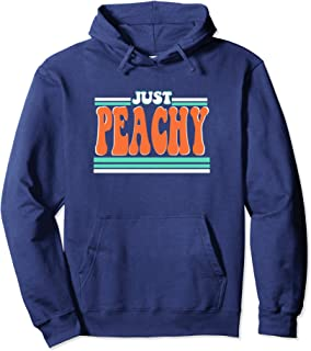 Just Peachy Summer Vintage Retro 70s 80s Graphic Tee Gift Pullover Hoodie