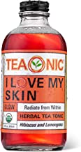 Teaonic I Love My Skin, Healthy Skin Glow and Detox, Organic, Natural, Caffeine-Free, Handcrafted Brewed Herbal Unsweetened Tea, Lemongrass and Hibiscus, 8oz (Pack of 12)