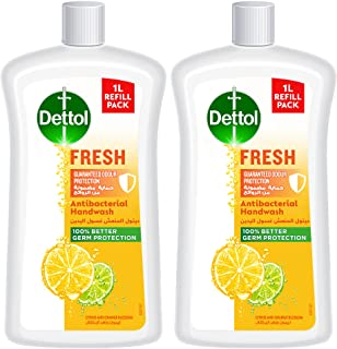 Dettol Fresh Handwash Liquid Soap Refill, Citrus & Orange Blossom, 1L, Pack of 2