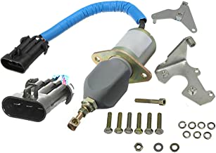 APDTY 134165 Fuel Shut Off Solenoid w/Mount Bracket Compatible With 5.9L Cummins Diesel Engine On 1994-1998 Dodge RAM 2500 3500 (Replaces 5016244AB, SA-4981-12, SA498, 3800723, 3923201, 3931570)