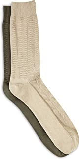 Harbor Bay by DXL Big and Tall Continuous Comfort 2-pk Casual Socks