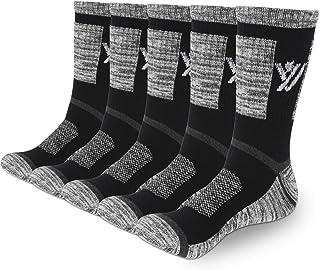 YUEVO SPORTS, 5 Pares Calcetines de Deporte para Hombre Transpirables, Algodón Calcetines de Trabajo para Caminar