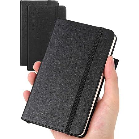 メモ帳 ノートブック 140×89mm PUレザーハードカバー ビジネスパーソン 学生