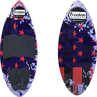 freedom wakesurf Patriot Skim surf Board 4' 4