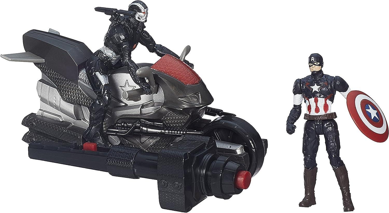 Marvel Avengers Edad de Ultron Capitán América y Guerra Figuras Máquina con targeta Ciclo (B1499)