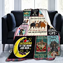 Dachshund Fleece Blankets,Gifts for Dachshund Lovers,Dachshund Puppies Fleece Blanket,Lightweight Throw Blanket Fluffy Coz...