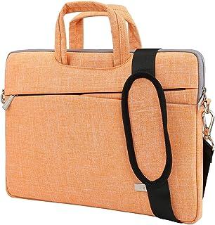 BingGoGo Laptop Bag 14 Inch Briefcase Shoulder Bags,Water Repellent Laptop Bag Briefcases Bussiness Carrying,Compatible Ultrabook MacBook 14-14.6 Inch Laptop Sleeves (14 Inch, Orange)