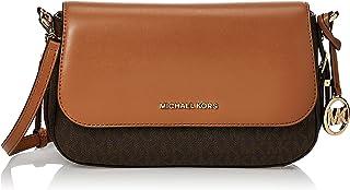 Michael Kors Bedford Legacy Logo Ladies Large Vanilla/Acorn Leather Crossbody Bag