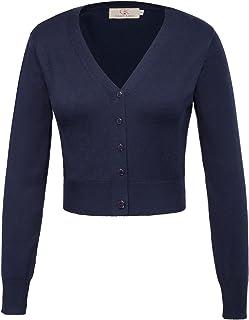 GRACE KARIN Strickjacke Damen Kurz Cardigan Langarm Outwear CLAF20