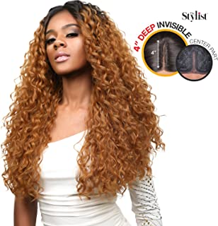 The Stylist Synthetic Lace Front Wig Deep Lace Center Part Curl Crush (OT27)