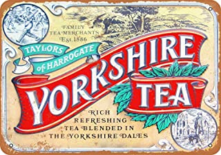 Bilingo Taylors of Harrogate Yorkshire Thee Vintage Metalen Tin Muurbord Plaque Poster Gepersonaliseerd Familie Street Sig...