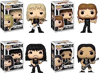 Funko POP! Metallica: James Hetfield + Lars Ulrich + Kirk Hammett + Robert Trujillo - Heavy Metal Band Vinyl Figure Set NEW