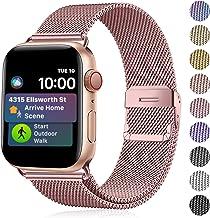 Funbiz Metal Correa Compatible con Apple Watch 38mm 40mm 42mm 44mm, Pulsera de Repuesto de Acero Inoxidable para iWatch Series 5 4 3 2 1