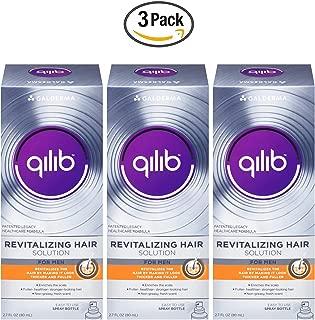 Galderma qilib Revitalizing Hair Solution, Men, Fresh Scent, 2.7 Fl Oz (3 Pack)