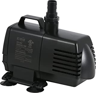 EcoPlus 1056 GPH (3785 LPH, 70W) Submersible Water Pump w/ 15 ft Power Cord | Aquarium, Fish Tank, Fountain, Pond, Hydroponics
