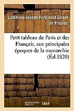 Petit tableau de Paris et des Français, aux principales époques de la monarchie contenant