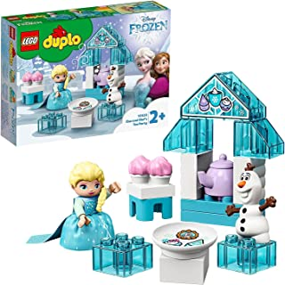 LEGO 10920 DUPLO Frozen II Elsa and Olaf's Ice Party Toy, Large Bricks Set with Cupcakes and Teapot for Toddlers 2+ Year Old