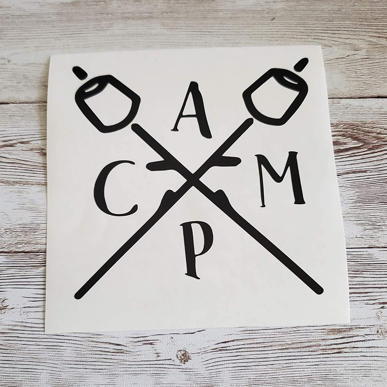 C A M P Camping Decal Vinyl Sticker Truck Window Max 54% OFF Car RV Trailer Daily bargain sale